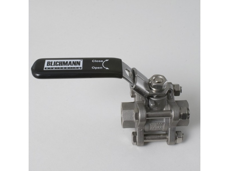 Three-piece Ball Valve Stainless 3/8""