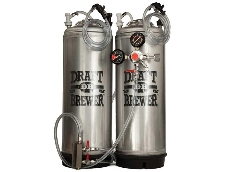 Draft Brewer Dual Keg System w/ 2-Way CO2 Distributor