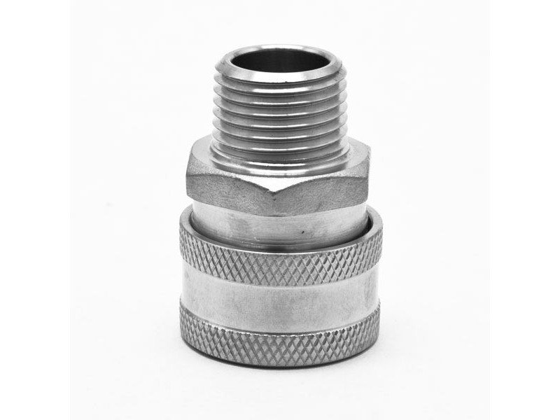 "Female Stainless Quick Disconnect x Male 1/2"" NPT"