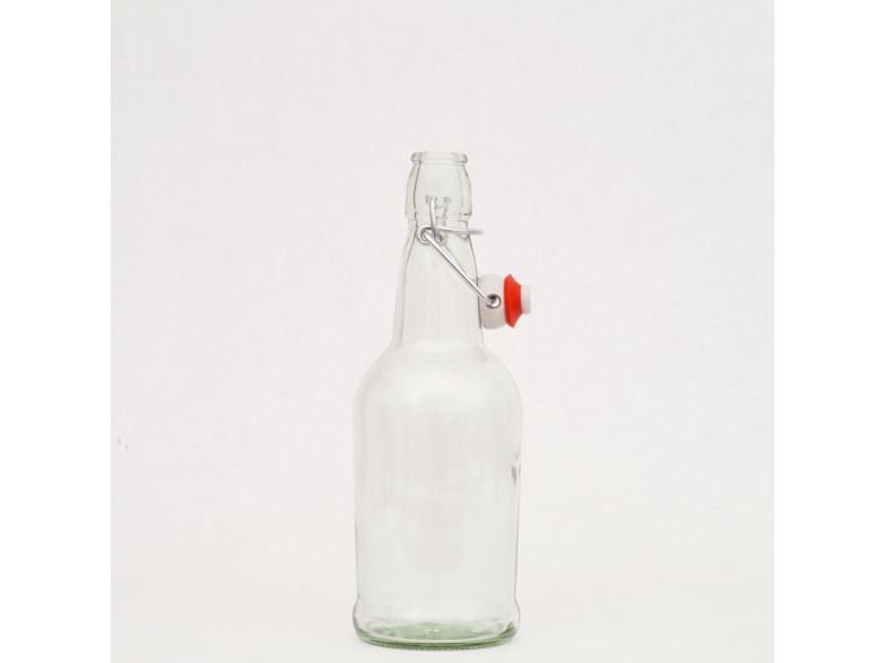 EZ Cap Bottles w/ Swing Tops - 16 oz. Clear