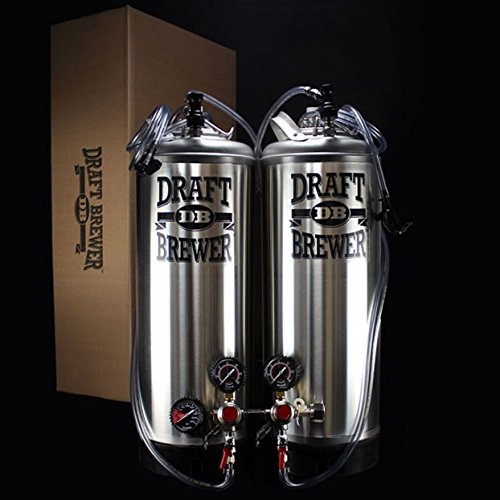 Draft Brewer Dual Keg System w/ Double Body CO2 Regulator