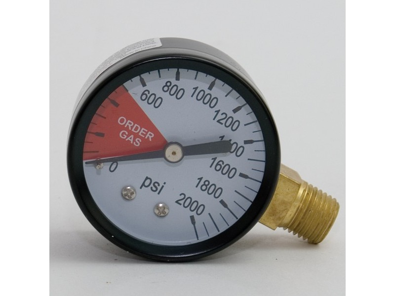 Regulator Gauge - 0-2000 psi RHT