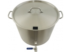 26 Gallon Stainless Brew Kettle - Notched Lid