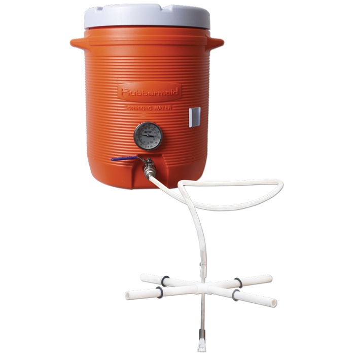 10 Gallon Cooler Hot Liquor Tank With Thermometer
