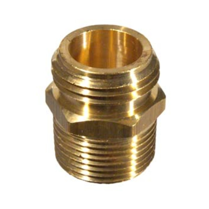 Brass Hose - Male x 3/4 in. mpt and 1/2 in. fpt