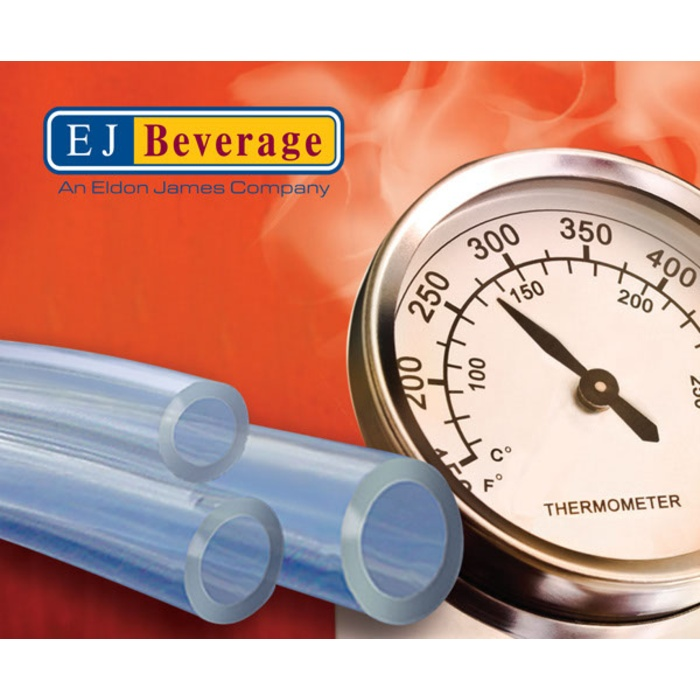 High Temp PVC Free Brew Tubing - (1/2 in ID) By the Foot