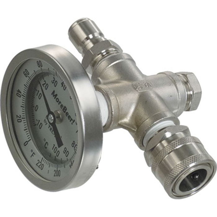 In-Line Thermometer (With Stainless Quick Disconnects)
