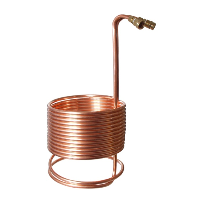 "Wort Chiller - Immersion Chiller - SuperChiller (50' x 1/2"" With Brass Fittings)"
