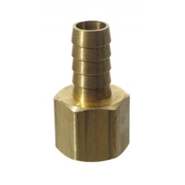 "Brass 1/2"" fpt x 1/2"" barb"