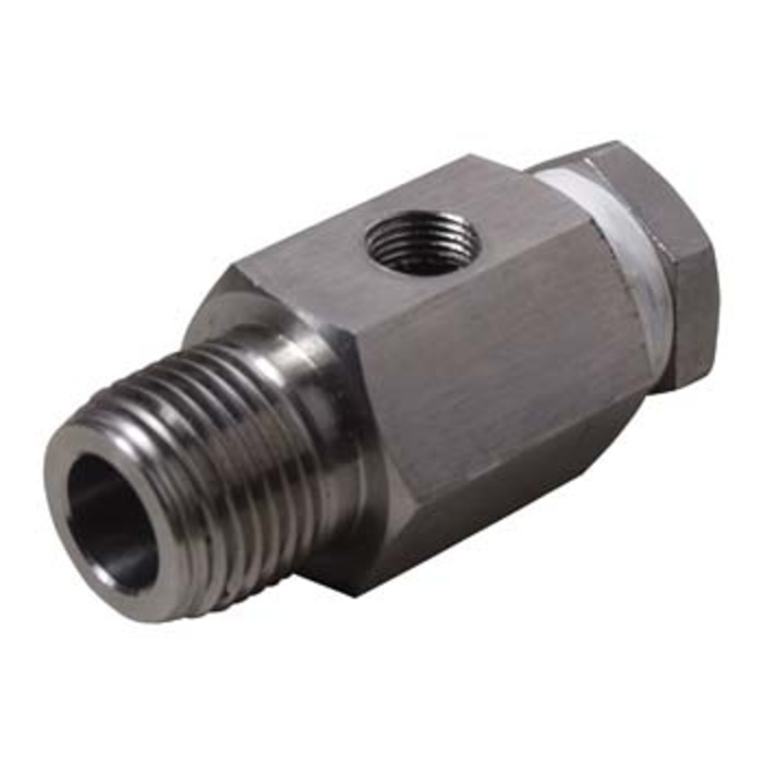 Stainless Sight Gauge Adapter with plug