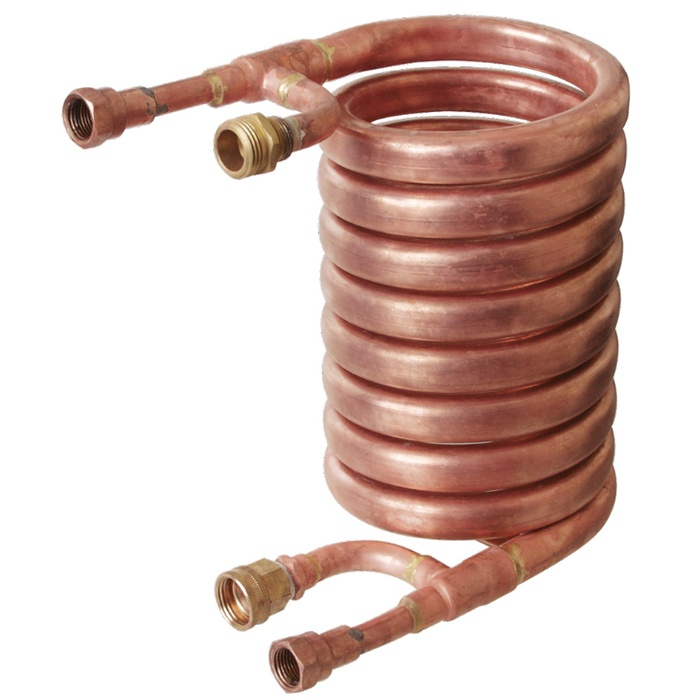 "Wort Chiller - Counterflow Chiller (With 1/2"" FPT Fittings)"