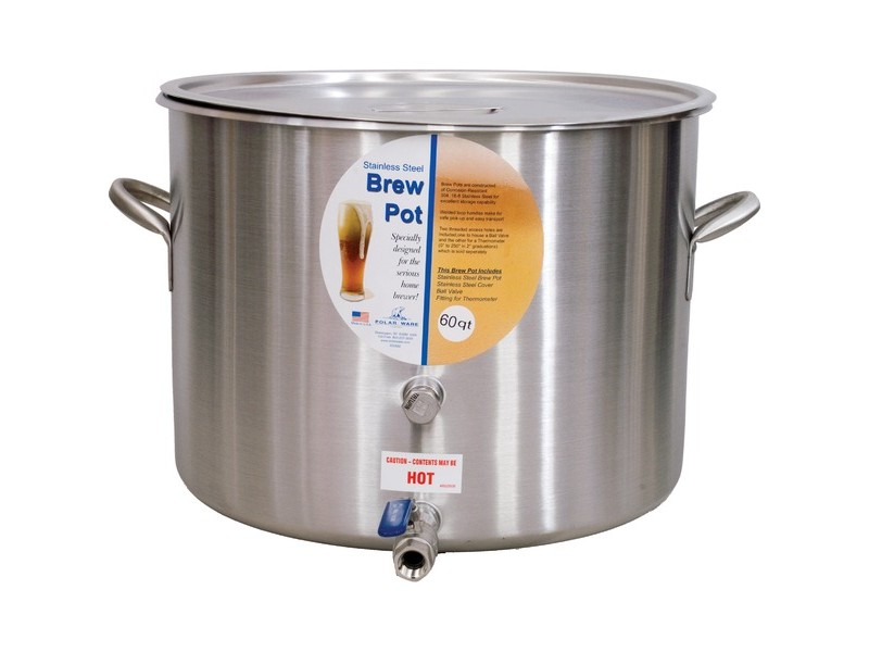"Polar Ware Brew Pot w/ 1/2"" Ball Valve (10 15 Gallons)"