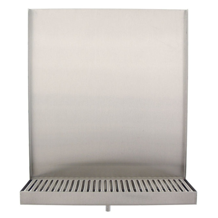 "Deluxe Drip Tray - 13"" Wall Mount (Back Splash & Drain)"