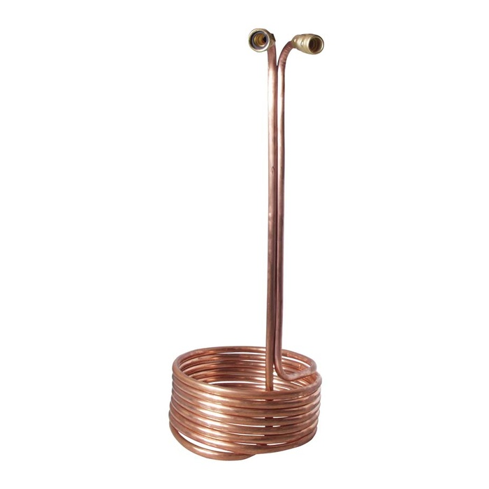 "Wort Chiller - Pre-Chiller (25' x 1/2"" With Brass Fittings)"