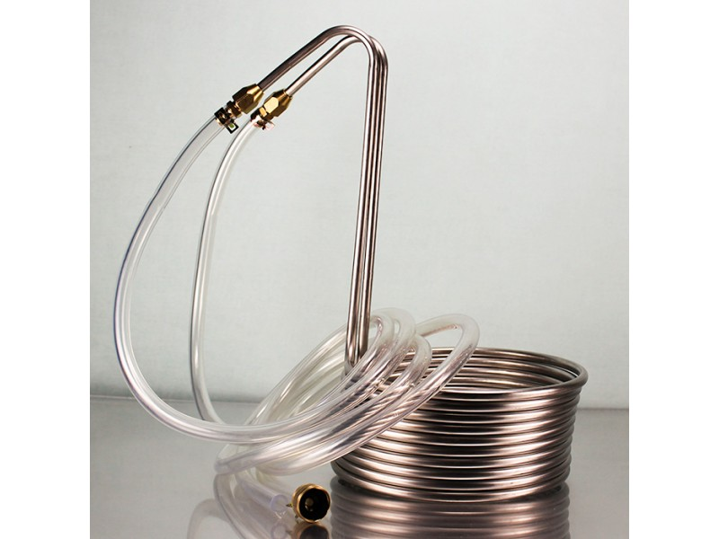 Silver Serpent Stainless Steel Immersion Wort Chiller
