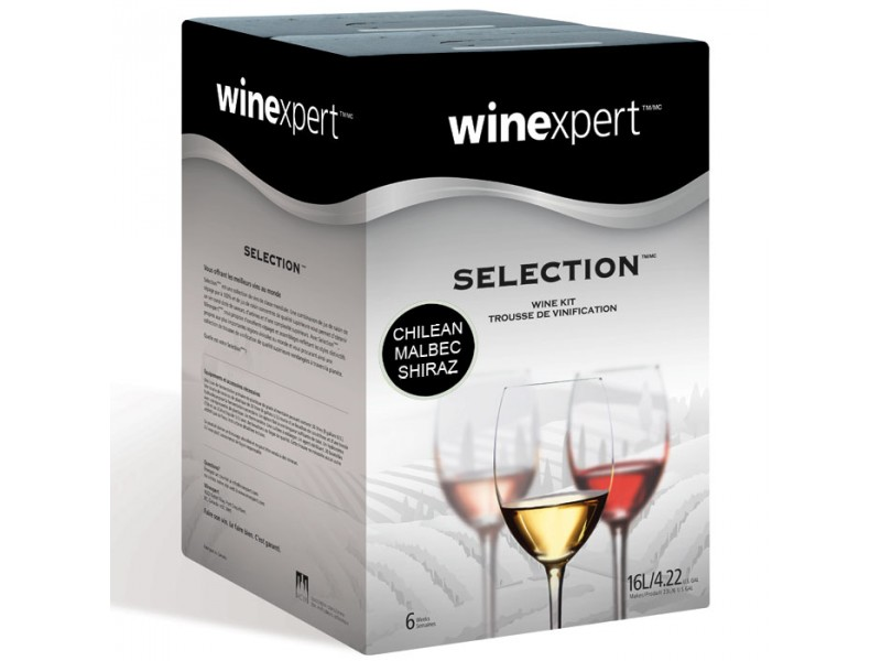 Chilean Malbec Shiraz with Grape Skins (Winexpert Selection International) Wine Kit