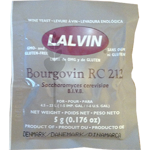 RC-212 Lalvin Dried Wine Yeast (Bourgovin)