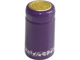 Purple/Silver PVC Shrink Capsules