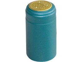 Metallic Light Blue PVC Shrink Capsules