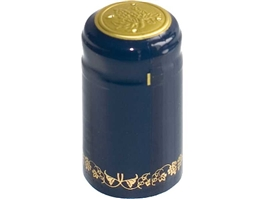 Blue/Gold PVC Shrink Capsules