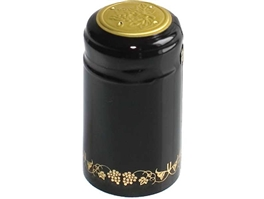 Black/Gold PVC Shrink Capsules