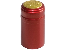 Metallic Ruby Red PVC Shrink Capsules