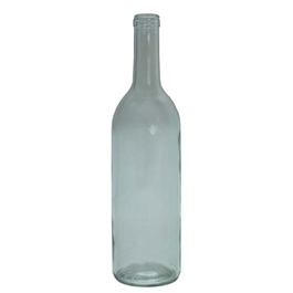 750 ml Wine Bottles Bordeaux Flat Bottom (Clear)