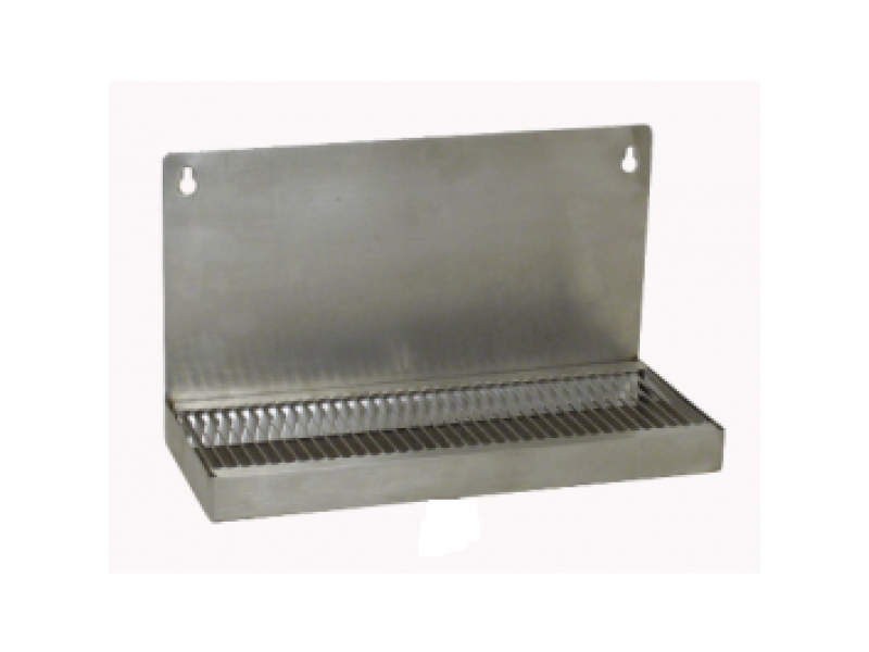 "Stainless Steel Mountable Drip Tray, no drain (12""L x 5""W- 6"" back splash)"
