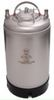 2.5 Gal Keg Single Metal Handle/Rubber Bottom