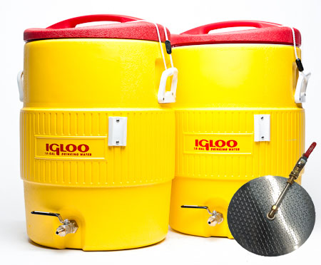 10 Gallon Converted Igloo Cooler Mash Tun With False Bottom AND HLT