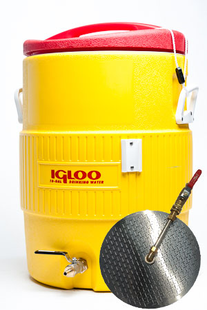 10 Gallon Converted Igloo Cooler Mash Tun With False Bottom