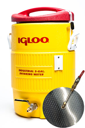 5 Gallon Converted Igloo Cooler Mash Tun with False Bottom