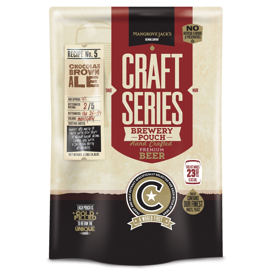 Chocolate Brown Ale Brewery Pouch