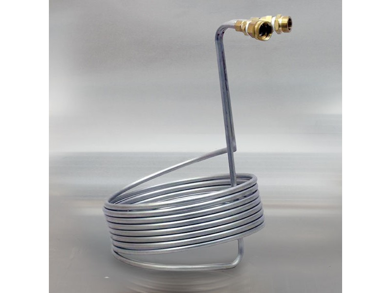 Stainless Steel Immersion Wort Chiller w/Garden Hose Fitting